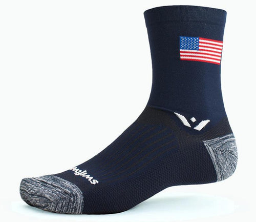 Swiftwick Vision Five Tribute Graphic Running Socks