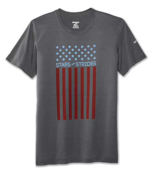 Brooks Pacesetter Stars and Strides Patriotic running tee