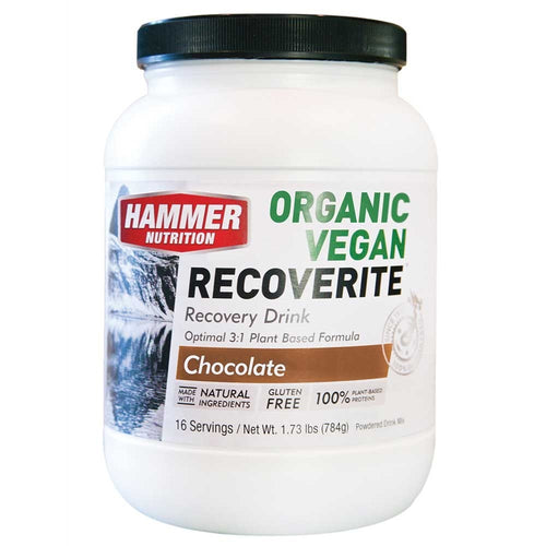 Hammer Nutrition Organic Vegan Recoverite recovery drink 16-serving cannister