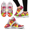 Valentine's Day Special-Rosy-Faced Lovebird Bird On Red Print Running Shoes For Women-Free Shipping