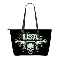 USA-Small Leather Tote Bag-Free Shipping
