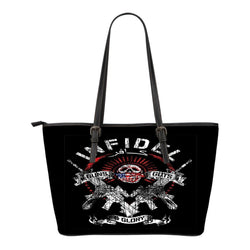 Infidel Guns & Glory-Small Leather Tote Bag-Free Shipping