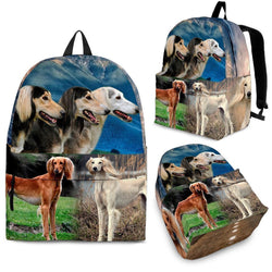 Saluki Dog Print Backpack-Express Shipping