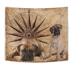 Amazing Bullmastiff Dog Print Tapestry-Free Shipping