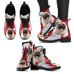 Valentine's Day Special Pug On Red Print Boots For Women-Free Shipping