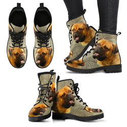 New Bullmastiff Print Boots For Women- Free Shipping