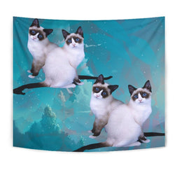 Lovely Snowshoe Cat Print Tapestry-Free Shipping