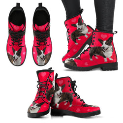 Valentine's Day Special-Cardigan Welsh Corgi Print Boots For Women-Free Shipping