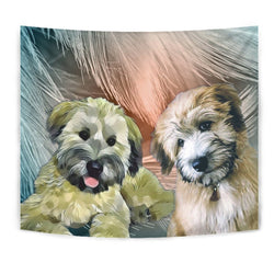 Soft-Coated Wheaten Terrier Print Tapestry-Free Shipping