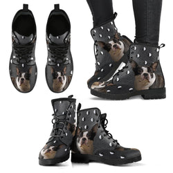Valentine's Day Special-Boston Terrier Print Boots For Women-Free Shipping