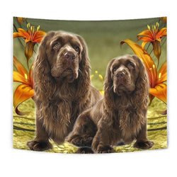 Sussex Spaniel Print Tapestry-Free Shipping