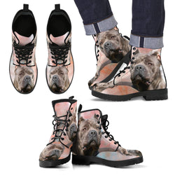 New Cane Corso Print Boots For Men- Express Shipping