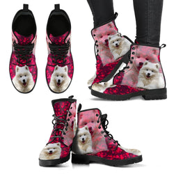 Valentine's Day Special-Samoyed Dog Print Boots For Women-Free Shipping