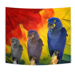 Hyacinth Macaw Print Tapestry-Free Shipping