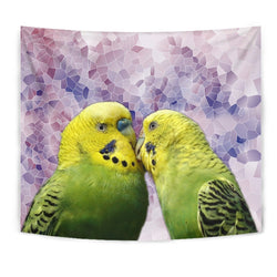 Budgerigar Parrot Print Tapestry-Free Shipping