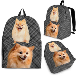 Pomeranian Dog Print Backpack-Express Shipping