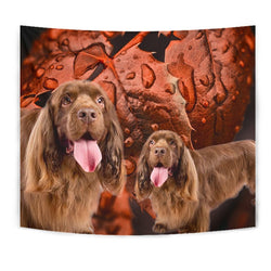 Cute Sussex Spaniel Print Tapestry-Free Shipping