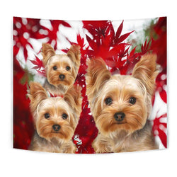 Lovely Yorkshire Terrier Print Tapestry-Free Shipping