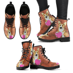 Valentine's Day Special-Pembroke Welsh Corgi Dog Print Boots For Women-Free Shipping