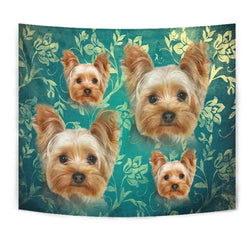 Amazing Yorkshire Terrier Print Tapestry-Free Shipping