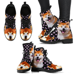 Valentine's Day Special-Akita Dog Print Boots For Women-Free Shipping