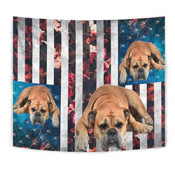 Bullmastiff Floral Print Tapestry-Free Shipping