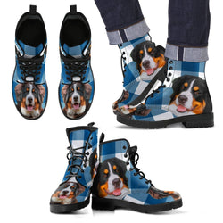 New Bernese Mountain Dog Print Boots For Men- Free Shipping