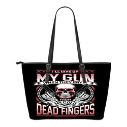 My Gun-Small Leather Tote Bag-Free Shipping