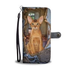 Abyssinian Cat 3D Print Wallet Case-Free Shipping