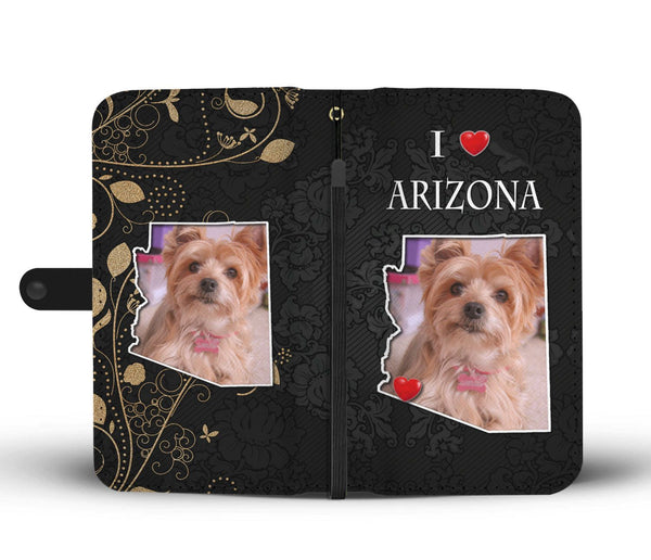 Fitness Equipment Yorkshire: Yorkshire Terrier On Black Print Wallet Case-Free Shipping