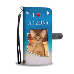 Abyssinian Cat Print Wallet Case-Free Shipping-AZ State