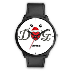 """Dog Georgia"" Print Christmas Special Wrist Watch-Free Shipping"