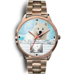 Samoyed Dog Colorado Christmas Special Wrist Watch-Free Shipping
