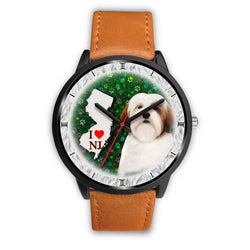Lhasa Apso Dog New Jersey Christmas Special Wrist Watch-Free Shipping