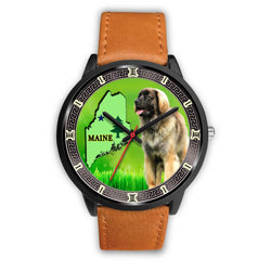 Leonberger Dog Maine Christmas Special Wrist Watch-Free Shipping