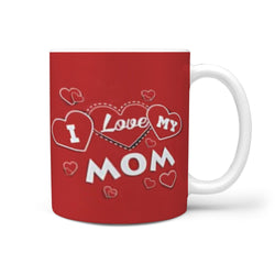 """Love Mom"" Print 360 White Mug"