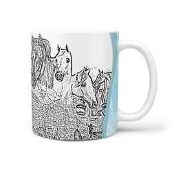 Arabian Horse Mount Rushmore Art Print 360 White Mug
