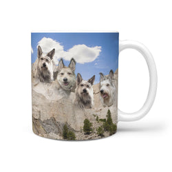 Berger Picard Dog Mount Rushmore Print 360 White Mug