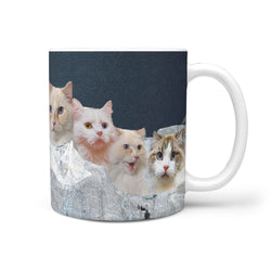 Ragamuffin Cat On Mount Rushmore Print 360 Mug
