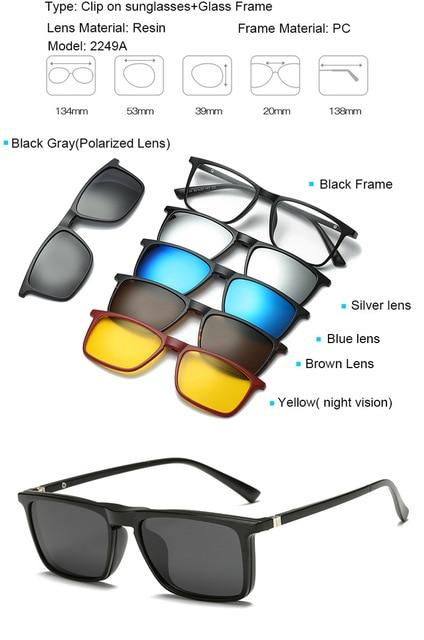 05dbf3d0fc9 5 in 1 Magnetic Lens Swappable Sunglasses - INNOVATIVE PRODUCTS ...