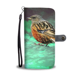 Accentor Bird Print Wallet Case-Free Shipping
