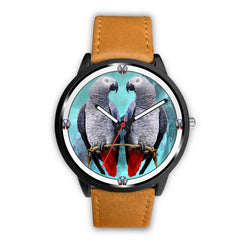 African Grey Parrot Print Wrist watch - Free Shipping