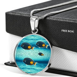 Achilles Tang Fish Print Luxury Circle Necklace -Free Shipping