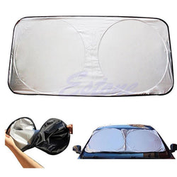 Auto - Folding Jumbo Front Rear Car Window Sun Shade Auto Visor Windshield Block Cover