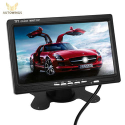 "Auto - Universal 7"" Reverse Parking VCR DVD Player AV Input Monitor For Rear View Camera"