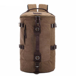 Backpacks - Large Capacity Travel Mountaineering Canvas Bucket Shoulder Backpack