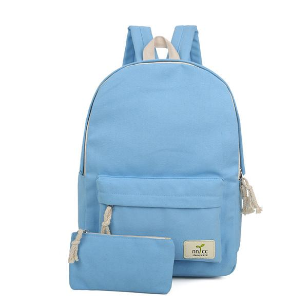 b64d50d2516 Solid Color Women High Quality Cute Canvas Backpack