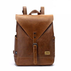 Backpacks - Unisex Backpack Leather Business Large Laptop Travel Bag