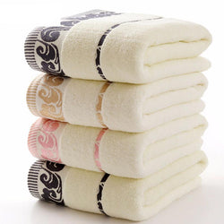Bathroom - 100% Cotton Bath Golden Embroidered Quick-Dry 70x140cm Towels