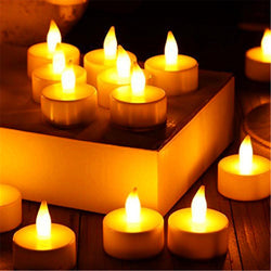 Bathroom - 24PCS LED Battery-Powered Flameless Tea Light Candles For Church / Home Decoration And Lighting